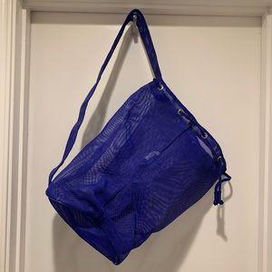 Eddie Bauer Blue Mesh Sling Beach Bag